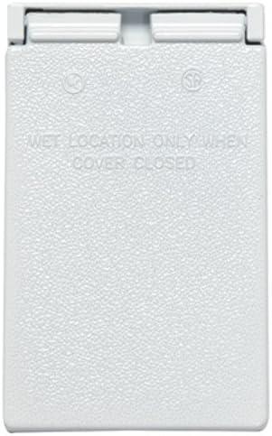 Pass /& Seymour CA8WV Ca8-Wv White Vert Weatherproof Cover