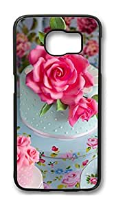 Brian114 Case, S6 Case, Samsung Galaxy S6 Case Cover, Beautiful Rose Cake Retro Protective Hard PC Back Case for S6 ( Black )