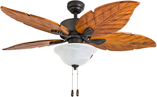 Prominence Home 50782-01 Misty Peak Tropical Ceiling Fan (3 Speed Remote), 52