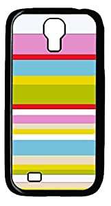 Colorful Line Hard Cover Back Case For Samsung Galaxy S4,PC Black Case for Samsung Galaxy S4 i9500
