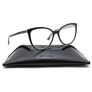 Christian Dior Montaigne 25 Round Women Eyeglasses (Black Crystal Frame 0TKX, 53)