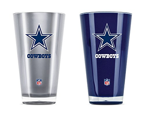 Nfl Beer Personalized - NFL Dallas Cowboys 20oz Insulated Acrylic Tumbler Set of 2