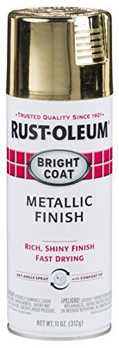 Rust-Oleum 7710830-6PK Stops Rust Bright Coat Metallic Spray Paint, 11 oz, Gold, 6 Pack
