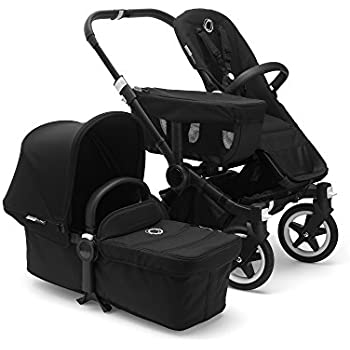 Bugaboo Donkey2 Complete Mono Stroller, Black – The Most Spacious Foldable Stroller with The Option to Expand to a Double