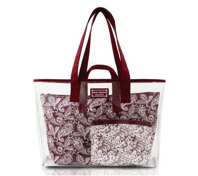 jacki-design-ahl15025rd-mystique-3-piece-tote-bag-set44-red