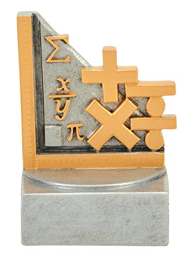Math Color Tek Trophy - Color School Achievement Award - Mathmatics - Silver Base - Personalized & Engraved plate included - Decade Awards