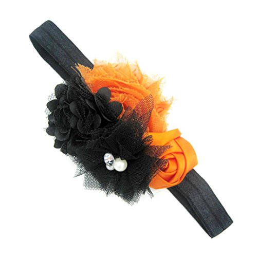 (Big Sale! Baby Headbands Halloween, Iuhan Baby Girls Halloween Headband Bow Elastic Hair Head Hairband Phtography Props)