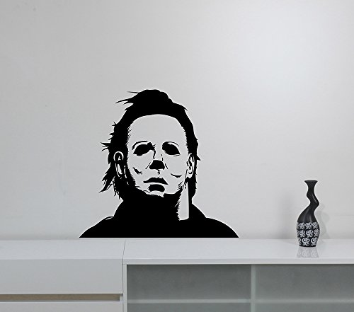 Michael Myers Wall Sticker Halloween Movie Character Vinyl Decal Friday the 13th Scary Art Decorations for Home Room Bedroom Horror Decor mmh2 ()