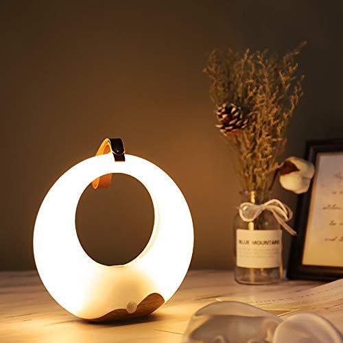 GX Difusor de infrarrojos sensor control mesilla de noche lámpara de mesa, minimalista luz de noche oficina Touch...