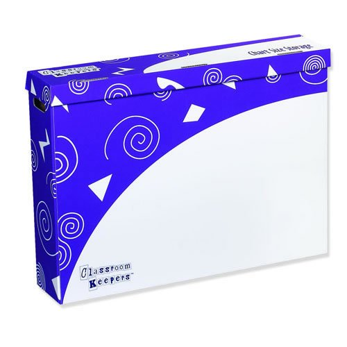 (Classroom Keepers Chart Size Storage Box, Purple & White, 23