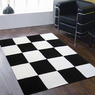 GRENSS Mode Wohnzimmer Sofa Tisch Teppich Schwarz Weiß Karierte Teppich  Matte Matte Komplet Tapete Teppiche