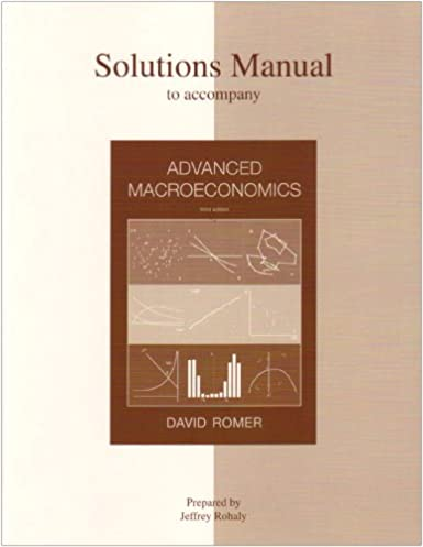 solutions manual to accompany advanced macroeconomics jeffrey rh amazon com