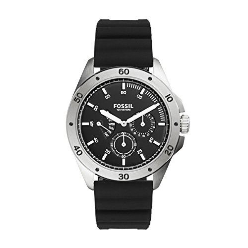 Fossil-Mens-Quartz-Stainless-Steel-and-Silicone-Casual-Watch-ColorBlack-Model-CH3033