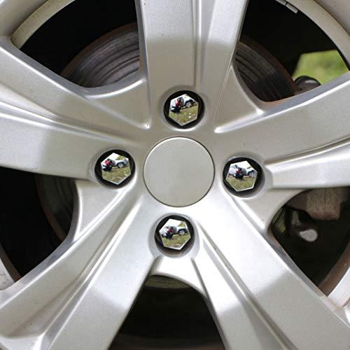 L-Yune,bolt 16Pcs//Set Abs Chrome Wheel Hub Caps Cover for Citroen C3 for Peugeot 208 2008 3008 2012 2013 2014 2015 2016