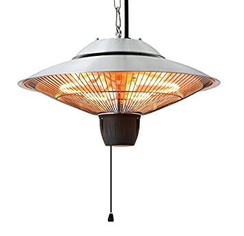 Ener G+ Infrared Indoor/Outdoor Ceiling Electric Patio Heater, Silver