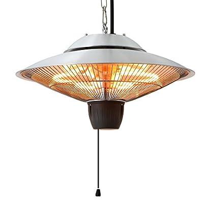 Ener G+ Infrared Indoor/Outdoor Ceiling Electric Patio Heater, Silver