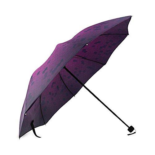 Kitchor Customized Aero Grid Foldable Umbrella Sun Rain Anti-UV