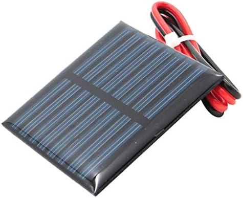 perfeclan Kleine Solarmodul Polykristalline Solarzelle DIY Solarpanel Ladegerät für Handys Spielzeuge - A 4V 55x55mm