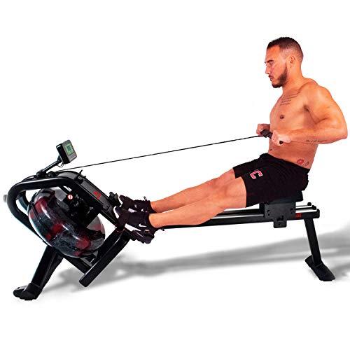 GoBeast Water Rowing Machine with Performance Monitor and Ergonomic Seat