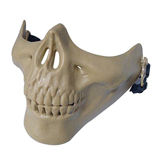 ISEYMI Hunting Ski Skull Paintball Wargame Skeleton Mask Protect Gear,Outdoor CS Creative DIY M03 Protective Face Mask Half Face Skull