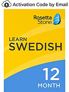 Rosetta Stone: Learn Swedish for 12 months on iOS, Android, PC, and Mac [Activation Code by Email] (B07D9DY6YH) | Amazon price tracker / tracking, Amazon price history charts, Amazon price watches, Amazon price drop alerts