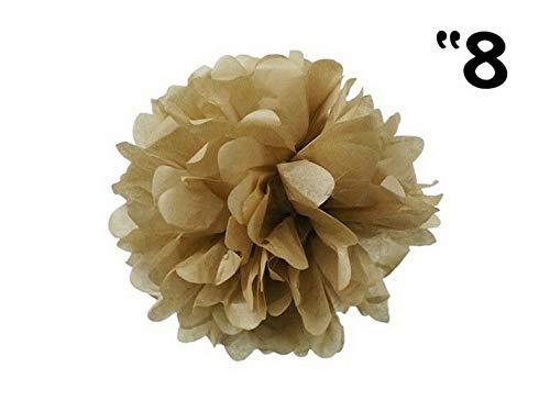 Mikash 12 pcs 8 POM POM Balls Wedding Party Centerpieces Decorations Wholesale | Model WDDNGDCRTN - 8121 |