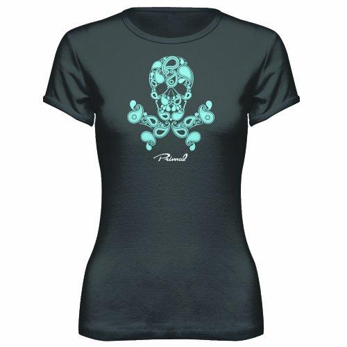 Primal Wear Women's Paisley Poison T-Shirt, Grey, -