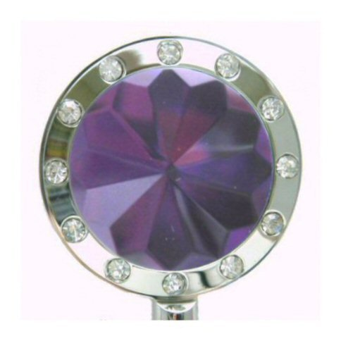 Purple/Silver Bling Crystal Purse (Crystal Purse Hook)
