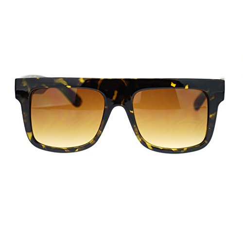 Mens Flat Top Rectangular Mobster Retro Fashion Hard Sunglasses - Glasses Mobster