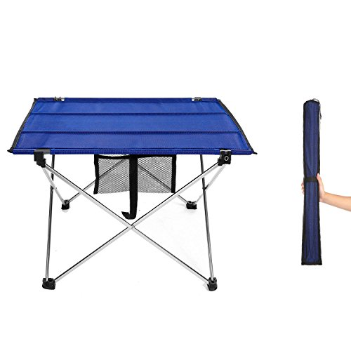Lightweight Portable Camping Tables, Small Folding Picnic Table, Medium (Fold Table Small Sides With Down)