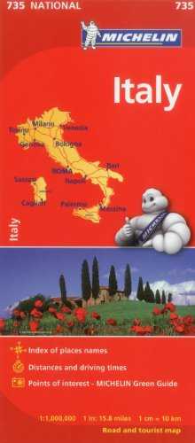 Michelin Italy Map 735 (Maps/Country (Michelin)) (Italian, English, French, German, Spanish and Dutch Edition) (Italy Driving Map)