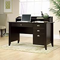 Compact Computer Desk With 3 Drawers And Grommet Hole For Cord Management, Made of Quality Wood That Brings A Sleek And Stylish Ambiance To Your Room