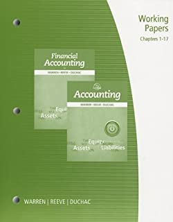 Amazon accounting 9781285069609 carl s warren james m working papers chapter 1 17 for warrenreeveduchacs accounting 25th fandeluxe Image collections