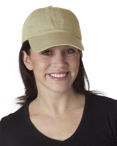 Ultraclub 8102 UC Solid Cotton Cap - Khaki - One ()