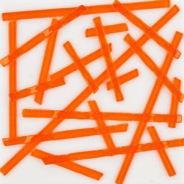 Fusing Glass Supplies COE 96 Strikes Light Orange Uroboros Noodles 5 Oz Tube UN1022