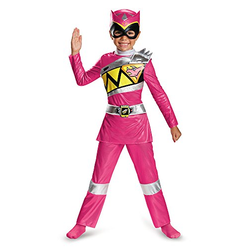 [Disguise Pink Ranger Dino Charge Deluxe Toddler Costume, Small (2T)] (Small Toddler Toddler Costumes)