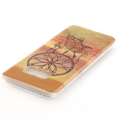 Anlike Schutzhülle für Samsung Galaxy S8 Plus Hülle, Handy Hülle / Handytasche / Silikon Hülle Case / Schlank Flexibel Handy Tasche Cover für Samsung Galaxy S8+ / S8 Plus (6,2 Zoll) - Eule Traumfänger
