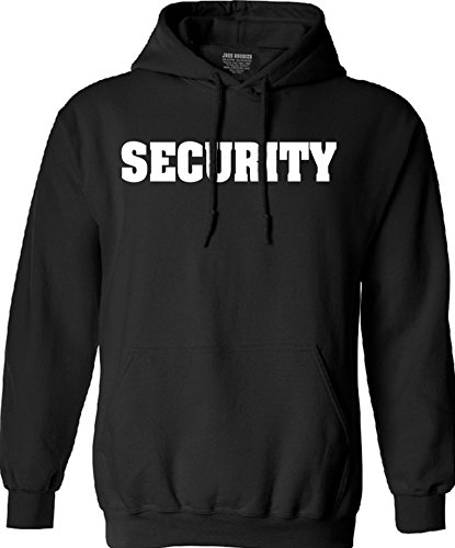 Joe's USA SECURITY- Event Staff Safety Shirts, Black Hoodie Printed 2 Sides