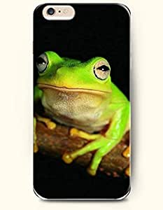 iPhone 6 Plus Case 5.5 Inches Beautiful Green Frog - Hard Back Plastic Case OOFIT Authentic