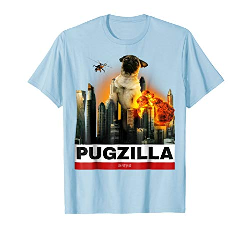 (PUGZILLA - Funny Pug T-shirt Cute Gift for Puggy Lovers)