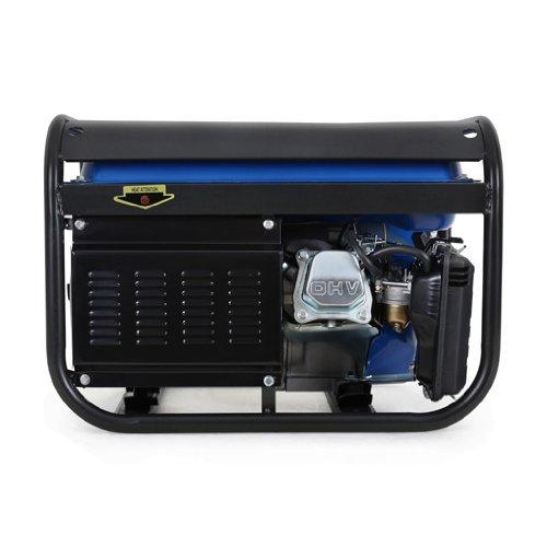 EBERTH 3000W Generador de corriente (Motor de gasolina de 4 tiempos y 6,5 CV, 2x 230 V, 1x 12 V, Arranque rectractil, Regulación de voltaje AVR, ...