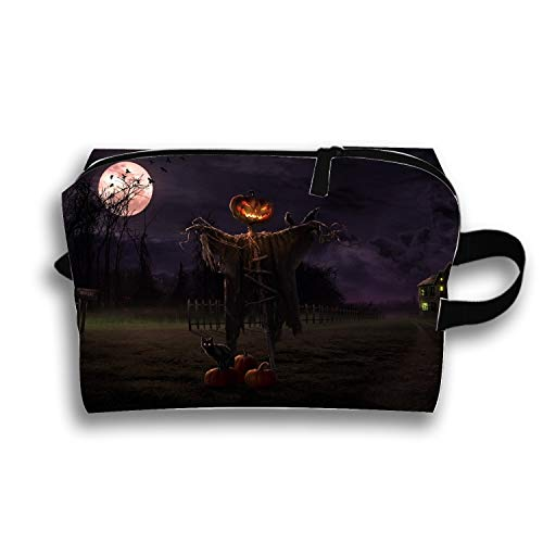Pencil Pen Zipper Pouch Small Cosmetic Makeup Bags,Holiday Halloween Candy Scary Style