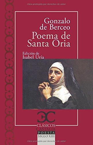 Poema De Santa Oria (Clasicos Castalia)