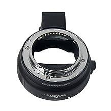 Signstek Newest Version Electronic Auto Focus EF-NEX EF-EMOUNT FX Lens Mount Adapter for Canon EF EF-S Lens to Sony E Mount NEX 3/3N/5N/5R/7/A7 A7R Full Frame Frame