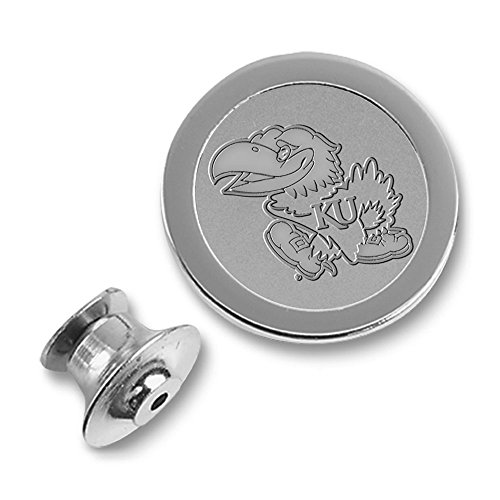 NCAA Kansas Jayhawks Adult Men Lapel Pin, One Size, Silver ()