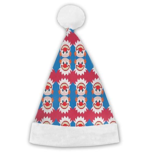 - HBLSHISHUAIGE Clown Pat Pattern Christmas Hats Santa Hat Headdress Party Decoration Comfort Liner;Xmas Caps for Adult Children;Delicate Printing