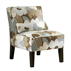 Skyline Furniture Armless Chair in Esprit Seaglass