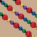 Kurt Adler Shatterproof Jumbo Garland, 9-Ft, Multi-Colored