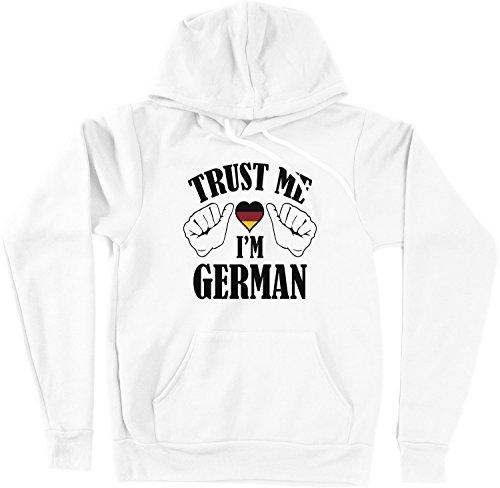 VectorPlanet Trust Me I'm German Unisex Hoodie, White XXL (Trust Me Im German)