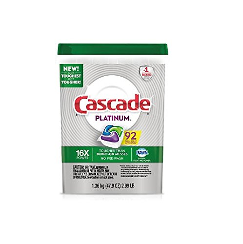 Cascade Platinum Dishwasher Detergent Actionpacs, (92 Auction PACS)